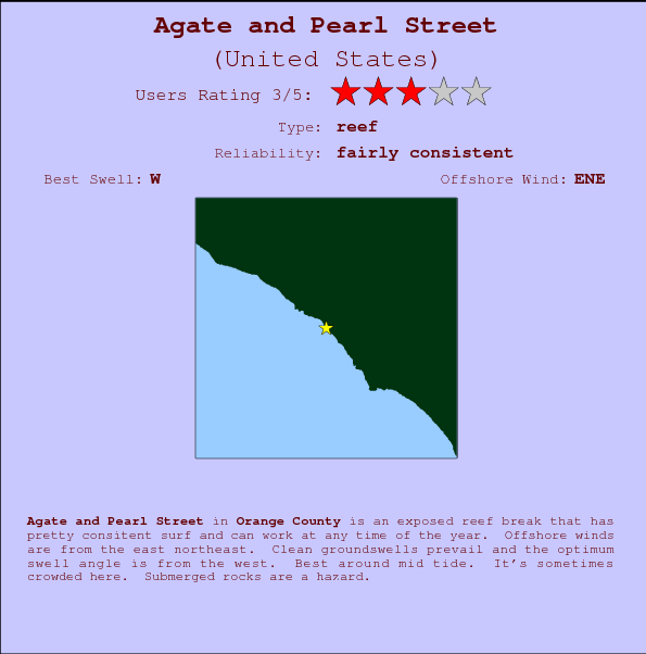 Agate and Pearl Street break location map and break info