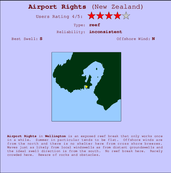 Airport Rights break location map and break info