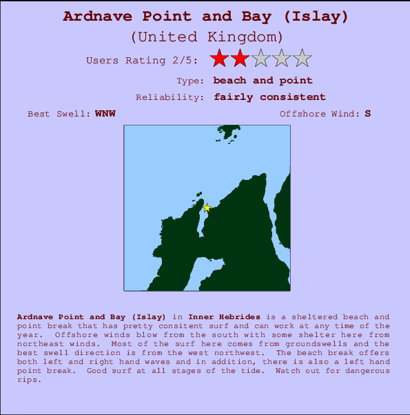 Ardnave Point and Bay (Islay) break location map and break info
