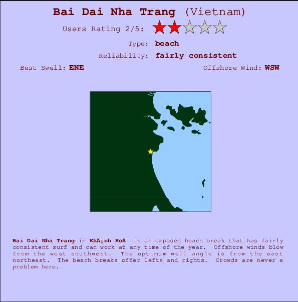 Nha Trang Vietnam Map.Bai Dai Nha Trang Surf Forecast And Surf Reports Khanh Hoa Vietnam