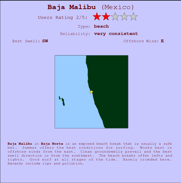 Baja Malibu Surf Forecast And Surf Reports Baja Norte Mexico