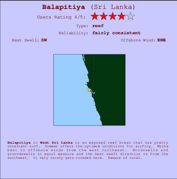 Balapitiya break location map and break info