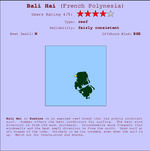Bali Hai break location map and break info