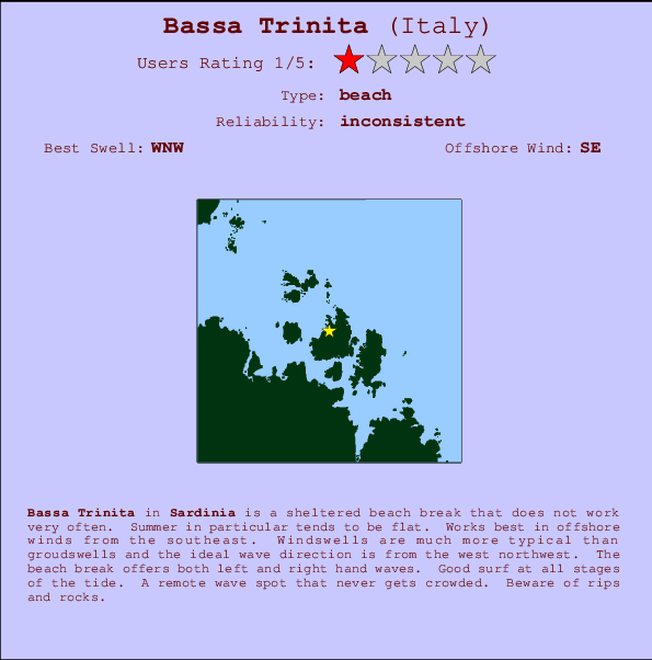 Bassa Trinita break location map and break info