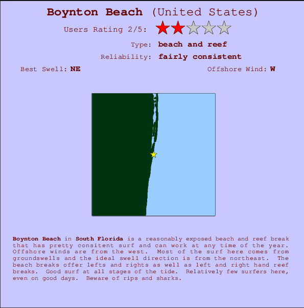Boynton Beach break location map and break info