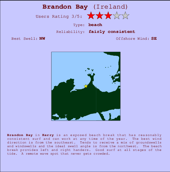 Brandon Bay break location map and break info