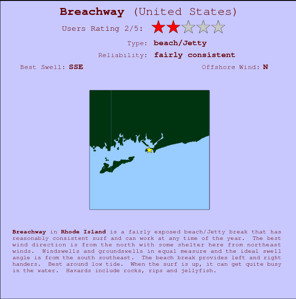 Breachway break location map and break info