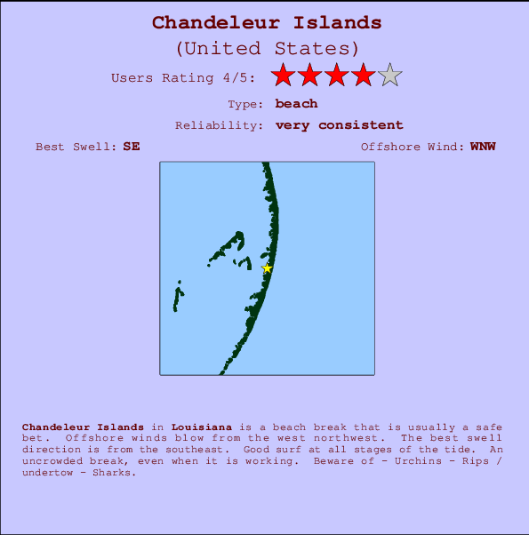 Chandeleur Islands Surf Forecast and Surf Reports (Louisiana, USA) on