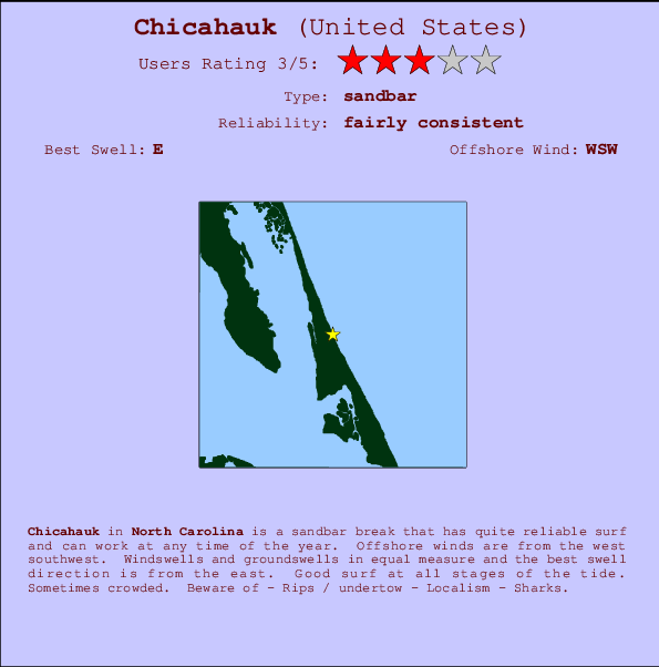 Chicahauk break location map and break info