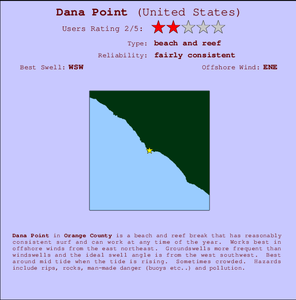 Dana Point Surf Forecast and Surf Reports (CAL - Orange