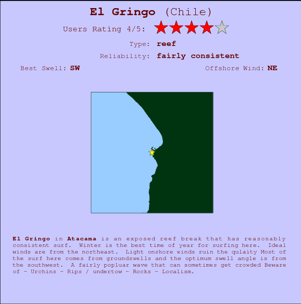 El Gringo break location map and break info