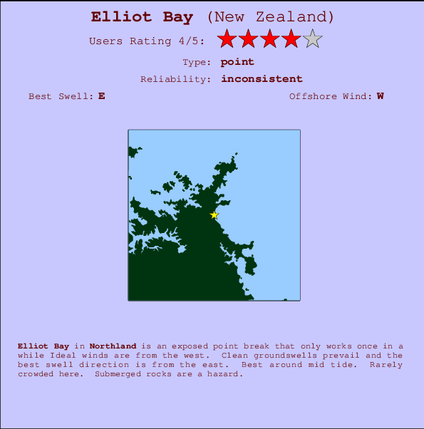 Elliot Bay break location map and break info