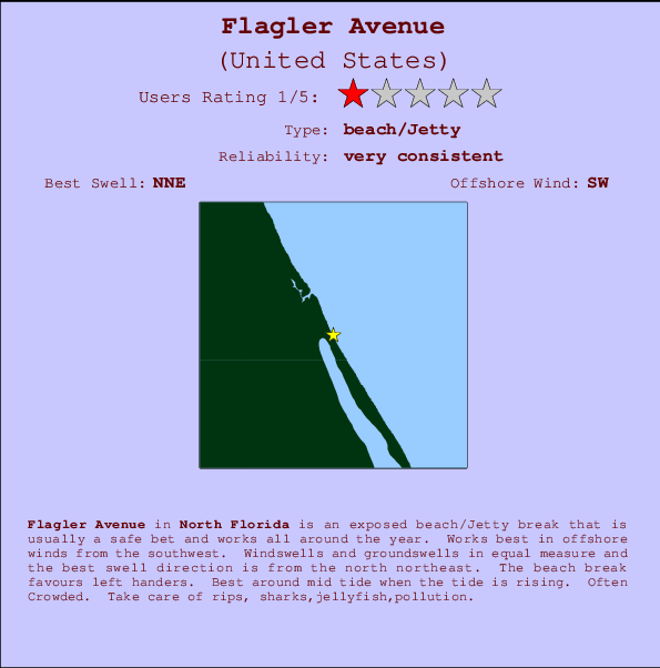 Flagler Avenue break location map and break info