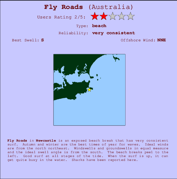 Fly Roads break location map and break info