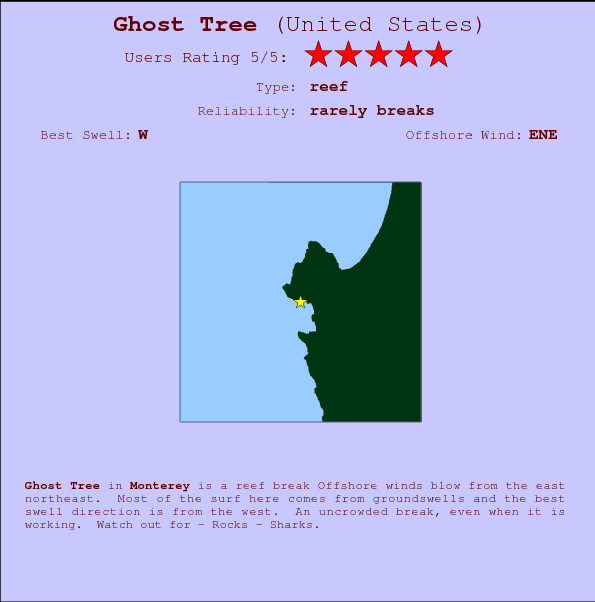 Ghost Tree break location map and break info