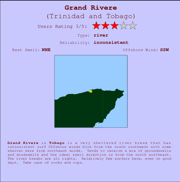 Grand Rivere break location map and break info