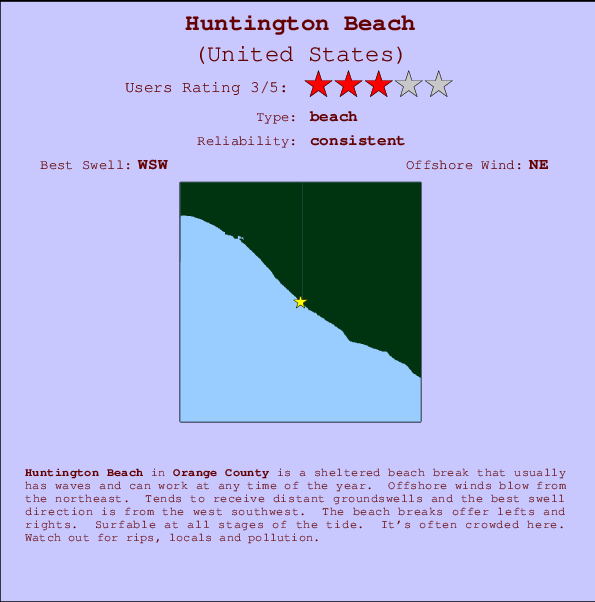 Huntington Beach Surf Forecast and Surf Reports CAL Orange County