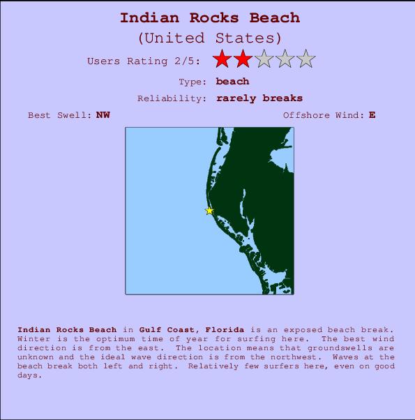 Florida Gulf Coast Map.Indian Rocks Beach Surf Forecast And Surf Reports Florida Gulf Usa