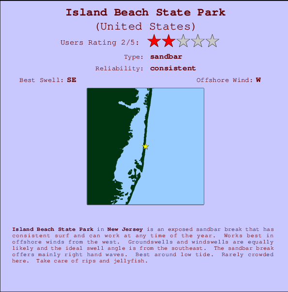 Island Beach State Park Nj: Island Beach State Park Surf Forecast And Surf Reports