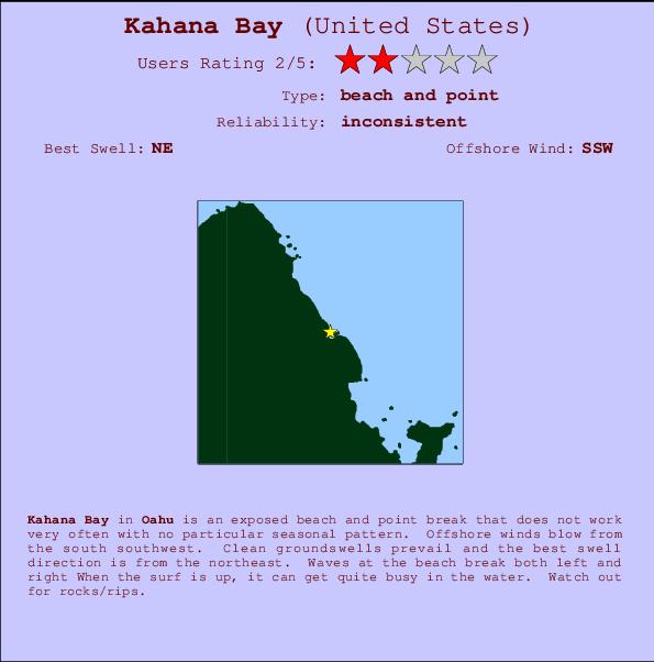 Kahana Bay Surf Forecast And Surf Reports Haw Oahu Usa