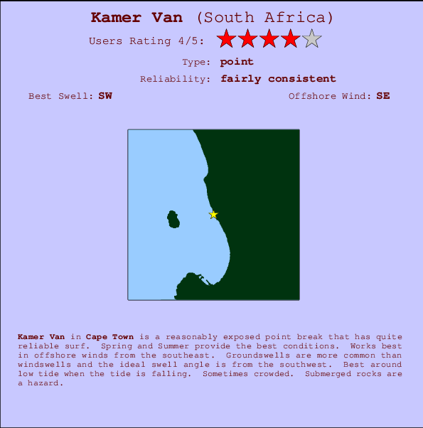 Kamer Van break location map and break info