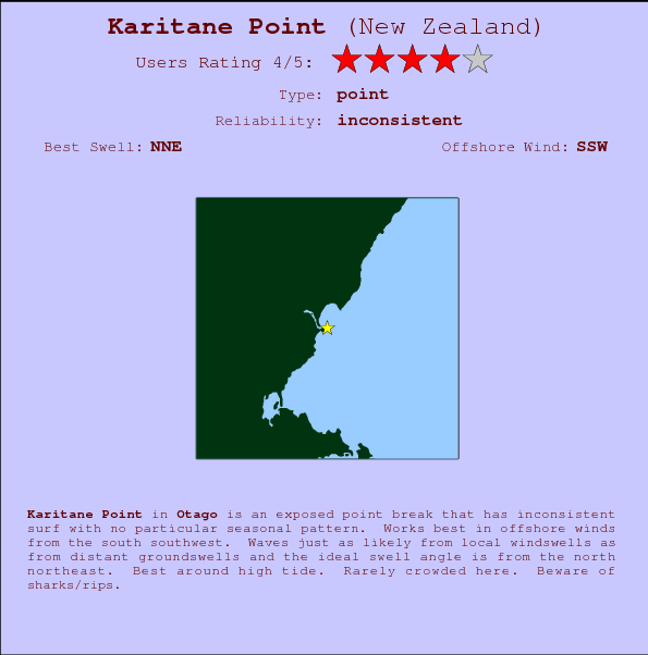 Karitane Point break location map and break info