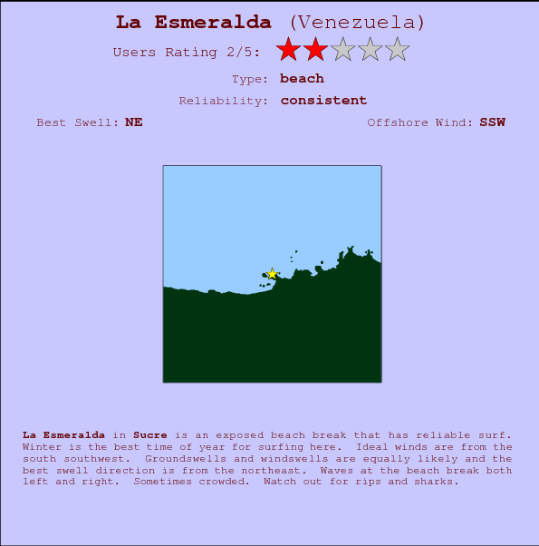La Esmeralda break location map and break info