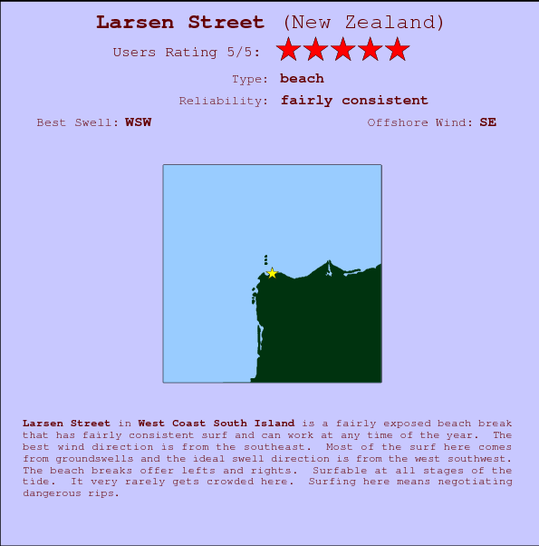 Larsen Street break location map and break info