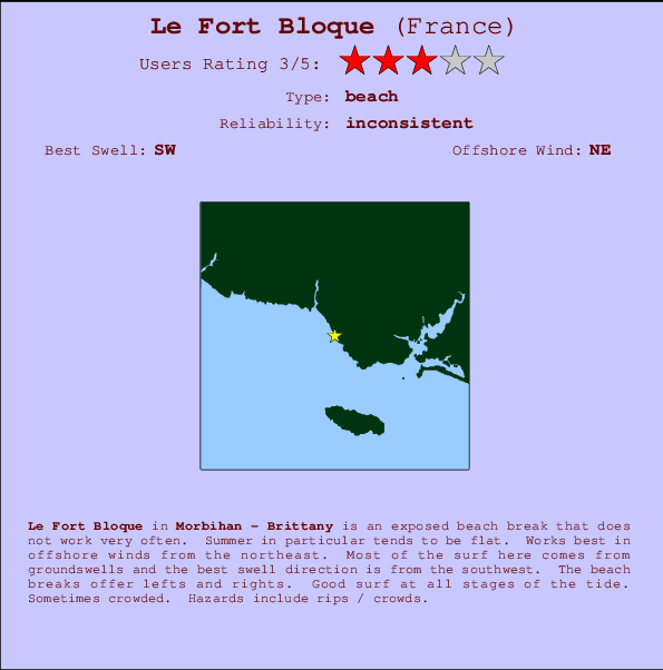 Le Fort Bloque break location map and break info