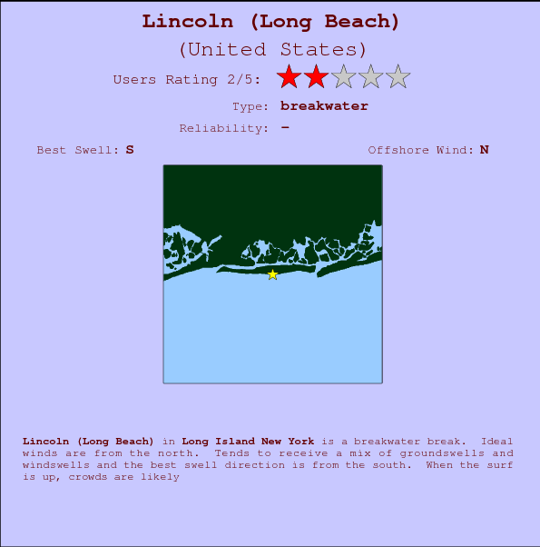 Lincoln (Long Beach) break location map and break info