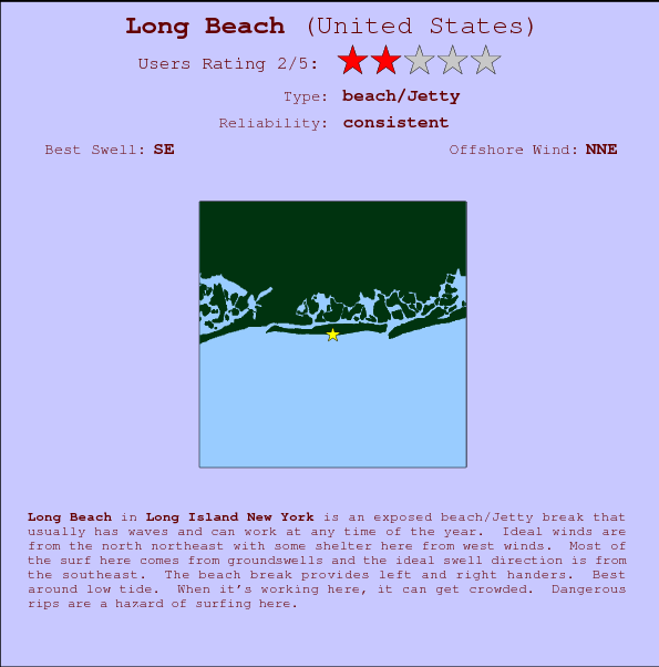 Long Beach break location map and break info