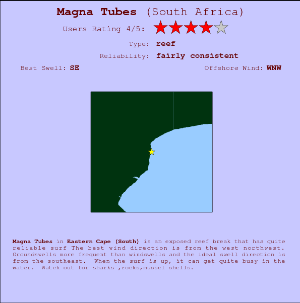 Magna Tubes break location map and break info