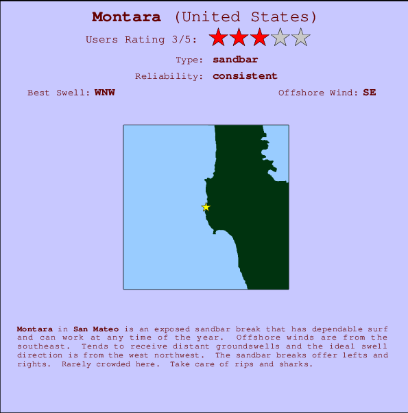 Montara break location map and break info