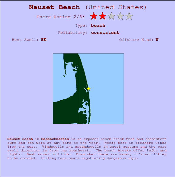 Nauset Beach Surf Forecast And Surf Reports Massachusetts Usa