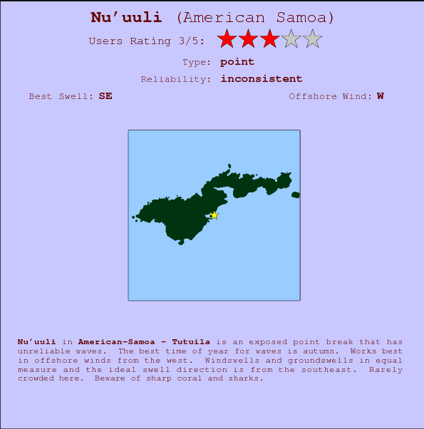 Nu'uuli break location map and break info