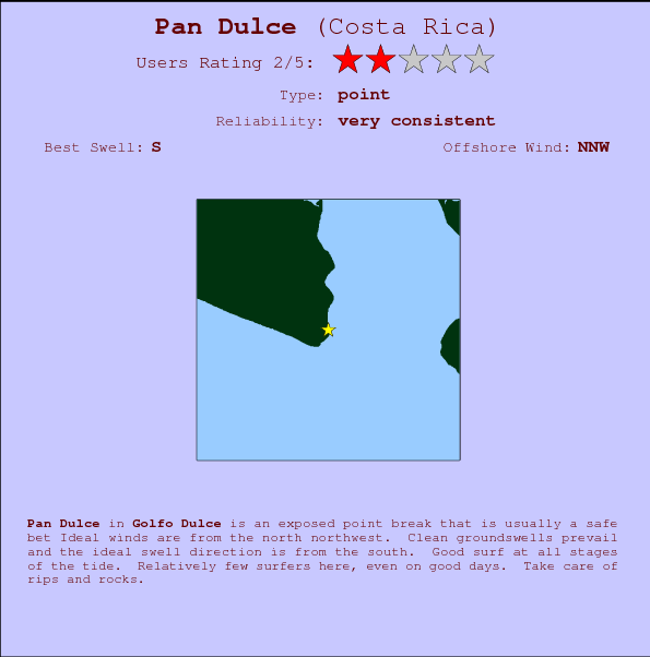 Pan Dulce break location map and break info