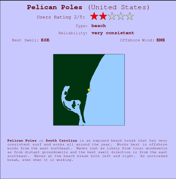 Pelican Poles break location map and break info