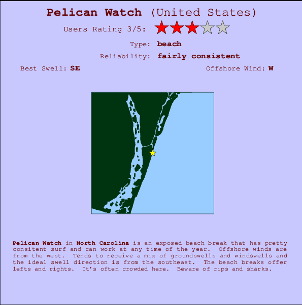 Pelican Watch break location map and break info