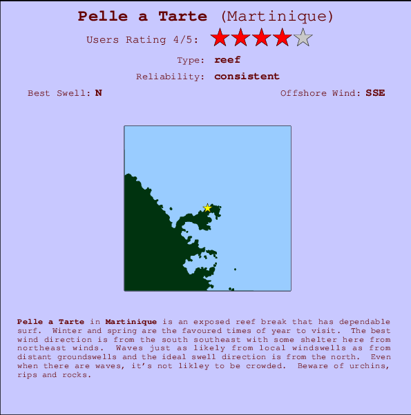 Pelle a Tarte break location map and break info