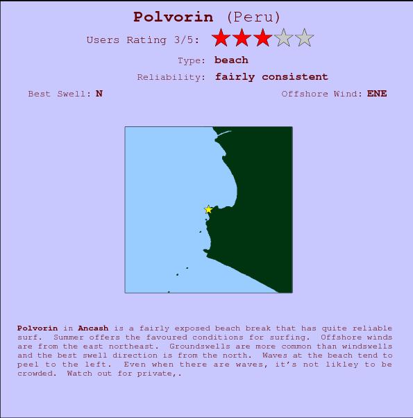 Polvorin break location map and break info