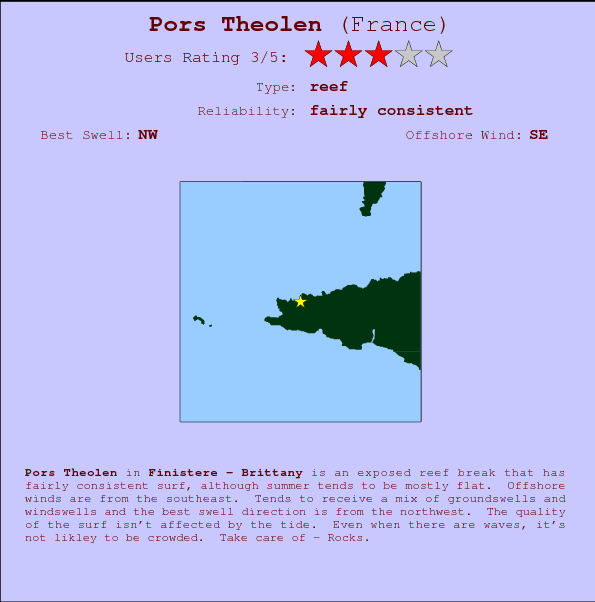 Pors Theolen break location map and break info
