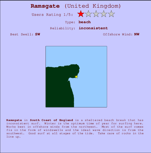Ramsgate break location map and break info