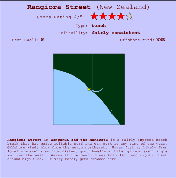Rangiora Street break location map and break info