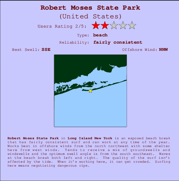 Robert Moses State Park Break Location Map And Info