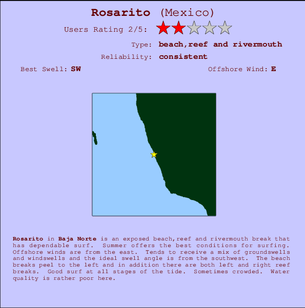 Rosarito Surf Forecast And Surf Reports Baja Norte Mexico