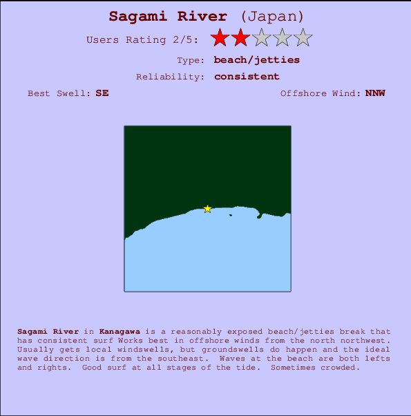 Sagami River break location map and break info