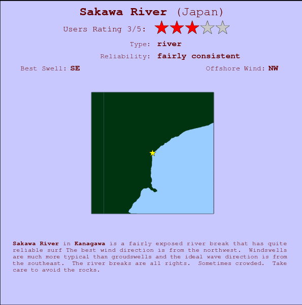 Sakawa River break location map and break info