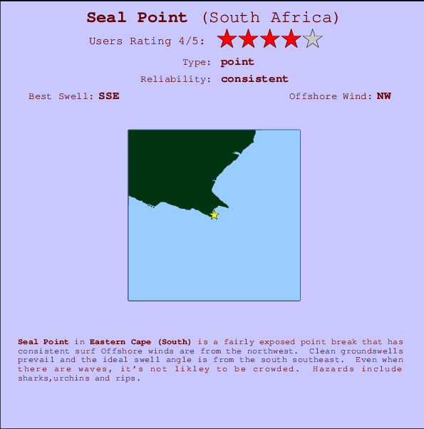 Seal Point break location map and break info