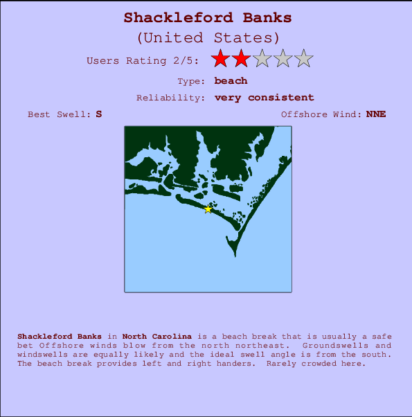 Shackleford Banks break location map and break info
