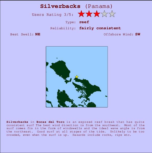 Silverbacks break location map and break info